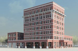 Revit model of historic hotel building