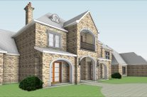 Country Residence Revit Model and CD's