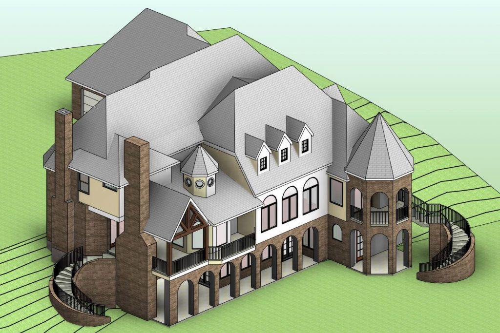Country House modeled in Revit