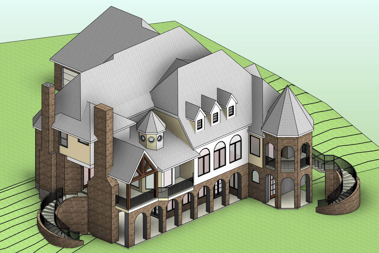 Superior Country House Modeled In Revit