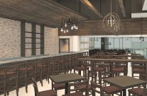 Restaurant Interior Revit Model with Custom Lighting, Materials