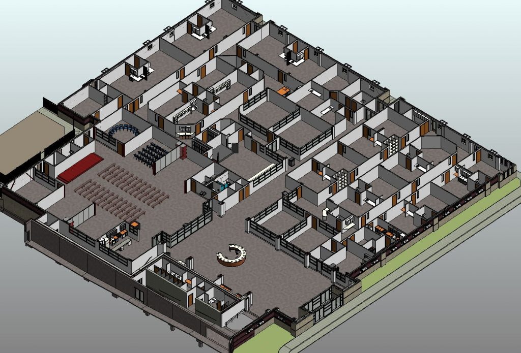 Cut-away 3D Isometric View of Children's Wing